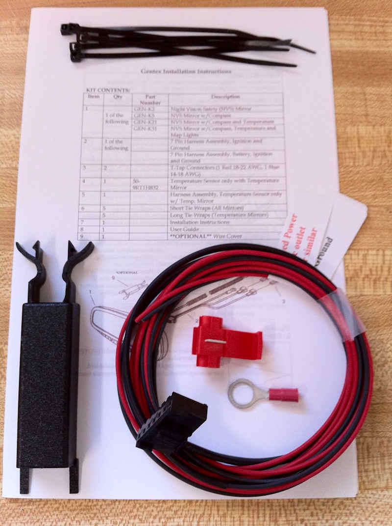 Gentex Mirror Install Kit 313 Wiring Harness Compass Auto Dim Universal Ebay